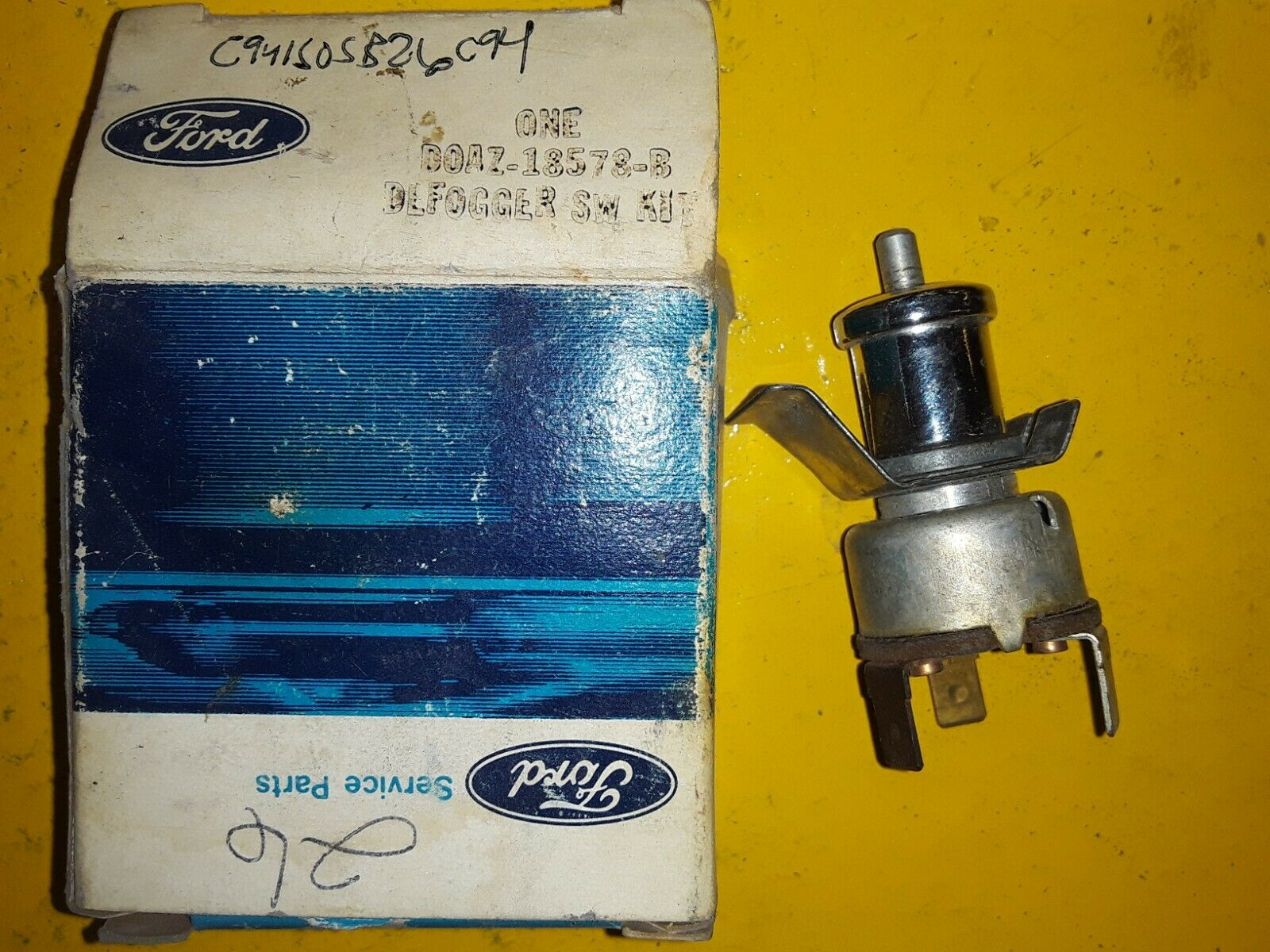 1968 - 1971 FORD GALAXIE MUSTANG TORINO FAIRLANE DEFOGGER SWITCH D0AZ-18578-B