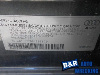 04 AUDI S4 ~Interior Trim Panel on LEFT REAR door~ 4232998 205.AU1N04 4232998