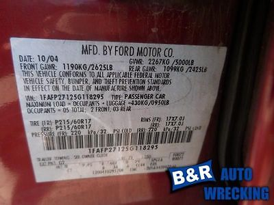05 06 07 FIVE HUNDRED STEERING GEAR/RACK POWER RACK AND PINION 9092259 551-02168 9092259