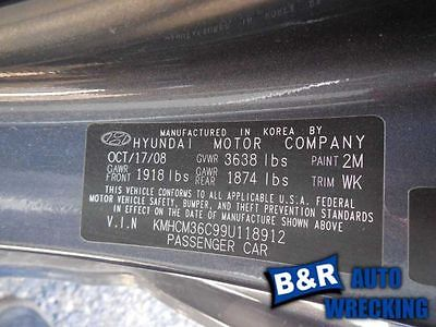 06 07 08 09 10 11 HYUNDAI ACCENT AUDIO EQUIPMENT 6249348 6249348