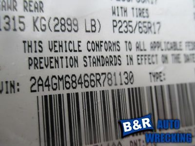 04 05 06 PACIFICA R. POWER WINDOW MOTOR FRONT 8978352 8978352