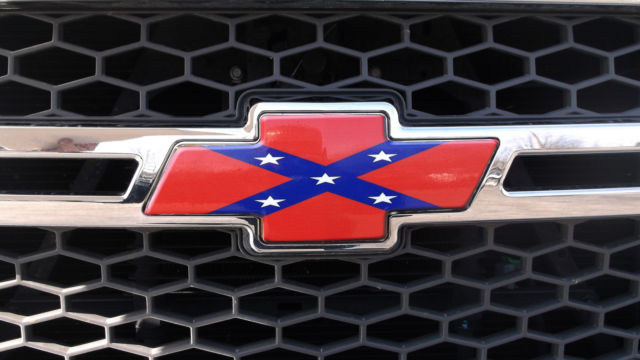 chevy bowtie vinyl decal rebel flag grill emblem cover. Black Bedroom Furniture Sets. Home Design Ideas
