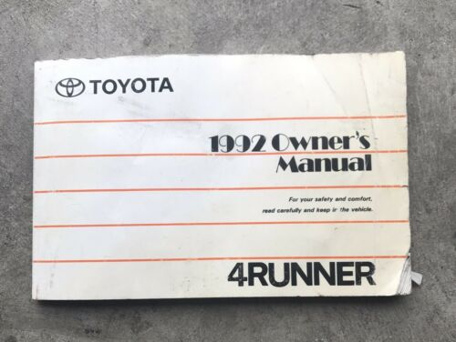 Pdf-2199] 1992 toyota 4runner owners manual | 2019 ebook library.