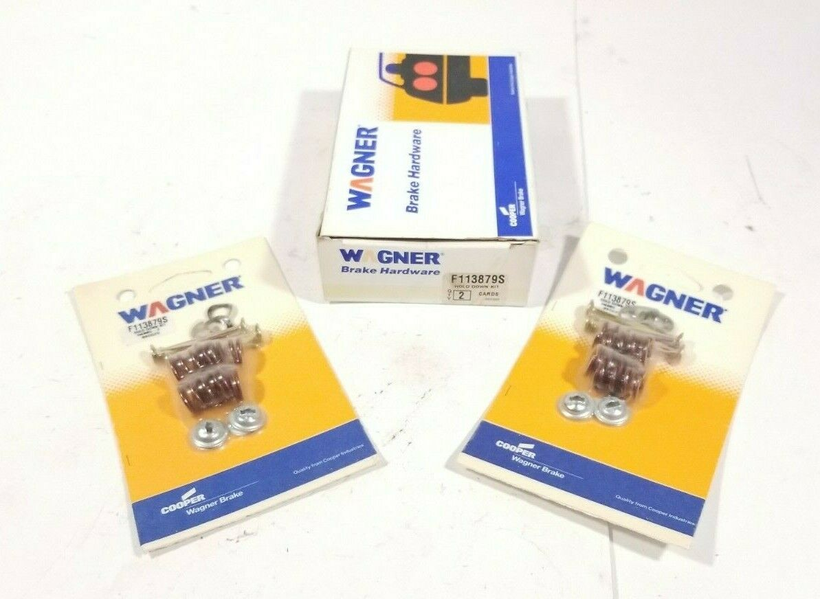 Set of Two Wagner Brake Shoes Hold Down Kits With Original Packaging F113879S F113879S