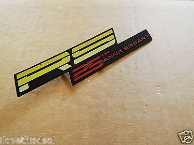 Genuine 1992 Chevrolet Camaro RS 25th Anniversary Edition Dashboard Emblem.
