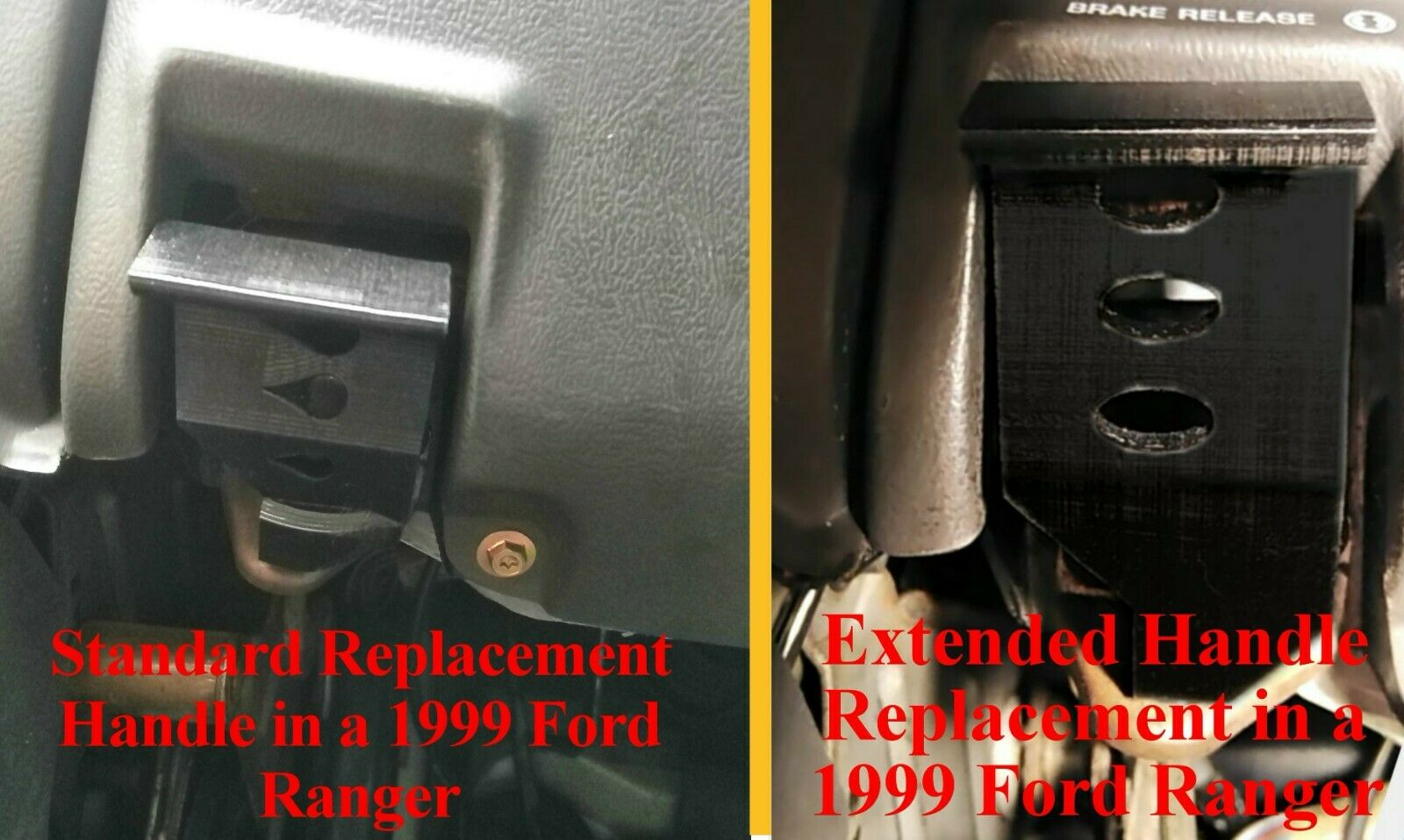 MERCURY MOUNTAINEER PARKING BRAKE RELEASE HANDLE REPLACEMENT - STANDARD - BLACK Not Applicable