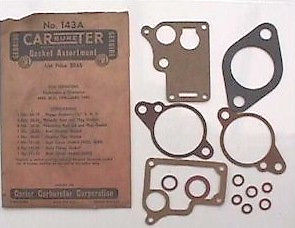Carbureter Gasket Set for Studebaker 6 Champion 1940