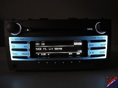07-11 Toyota Camry Factory OEM JBL Radio 6 Disc CD Changer Mp3 Player  Tested!