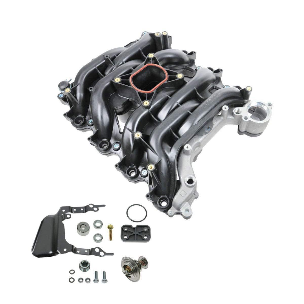 Intake Manifold w/Thermostat & Gaskets Kit for <em>Ford</em> Lincoln Mercury 4.6L V8