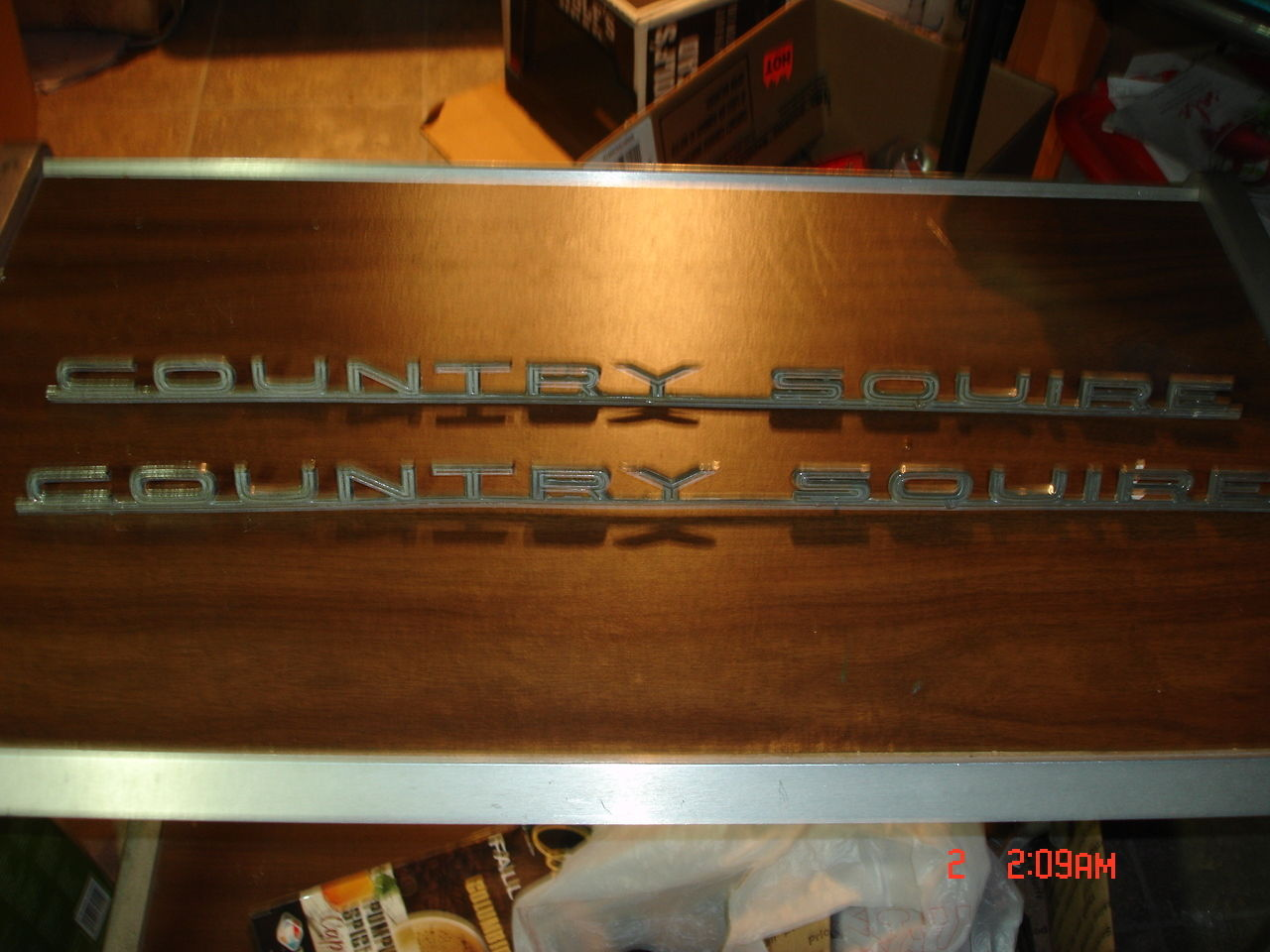 2 Original 1965 Galaxie Country Squire Station Wagon Fender Ornament / Emblems C5AB 16098 D