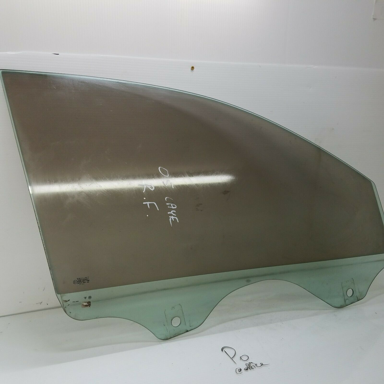 2003-2006 PORSCHE CAYENNE RIGHT FRONT PASSENGER DOOR WINDOW GLASS OEM 43R-001168 Does not apply Po Cay