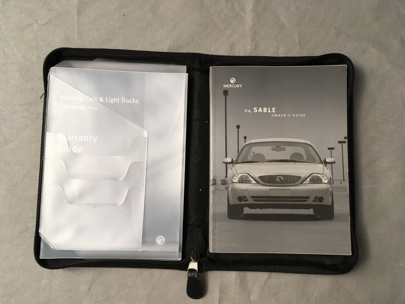 Mercury Sable 2004 Owner's Guide in zippered case