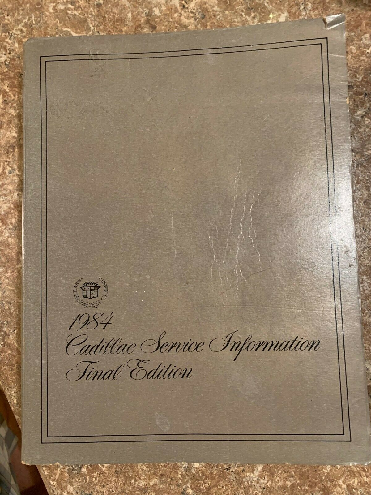 1984 CADILLAC FACTORY SERVICE MANUAL FINAL EDITION catalog H-2112 ex cond