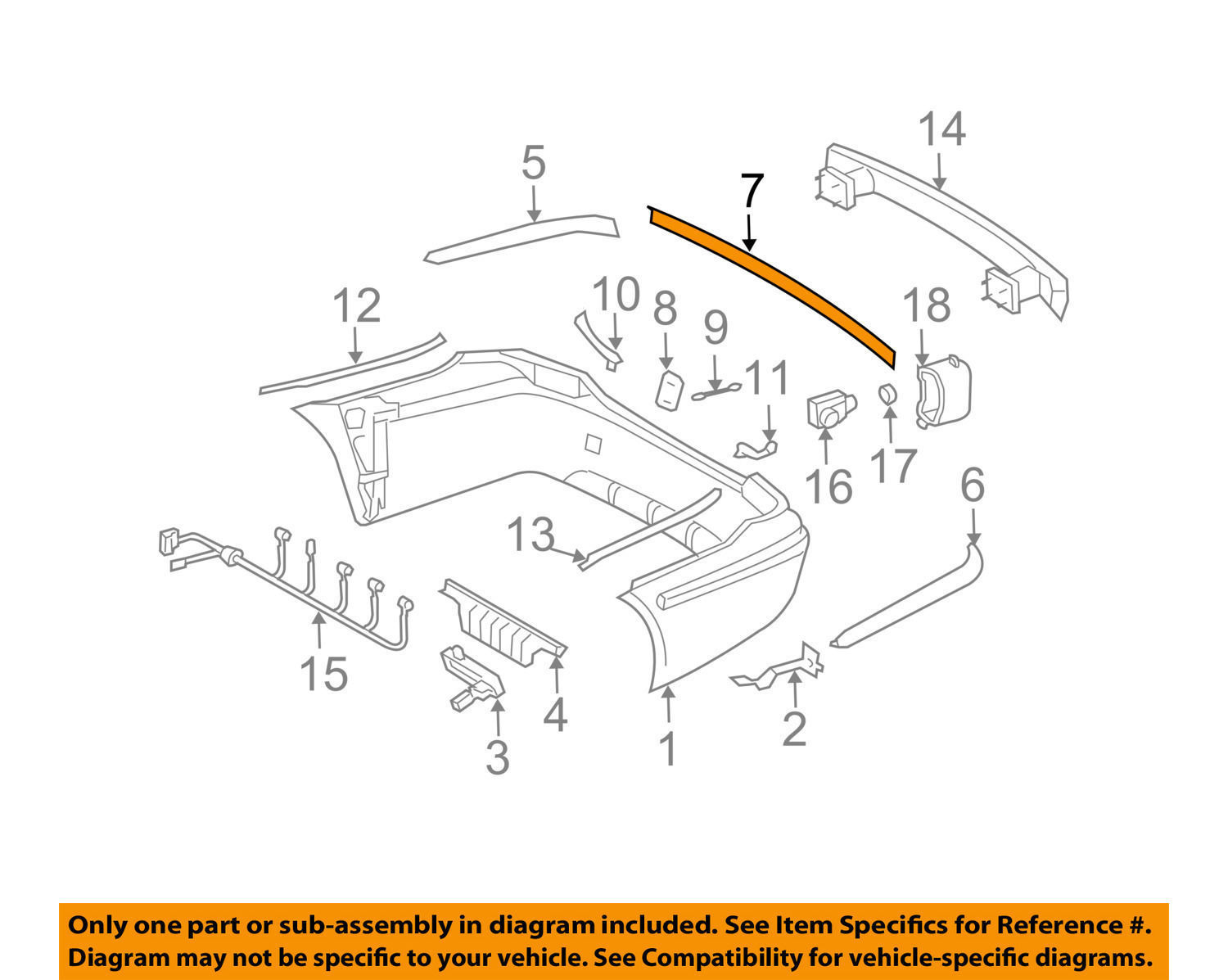 NEW GENUINE OEM MERCEDES-BENZ 21188000129744 CENTER MOLDING for 03-04 E Class  211-880-00-12-9744