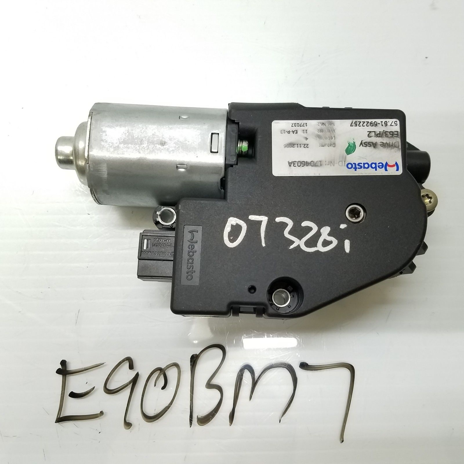 2007-2011 BMW 325i 330i 328i E90 SUNROOF MOTOR DRIVE UNIT ACTUATOR OEM 6922257 Does not apply E90BM7