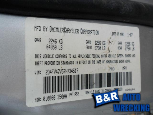 06-08 09 10 11 12 DODGE CHARGER ~Right Front~ Spindle with Hub 3712457 515-01492R 3712457
