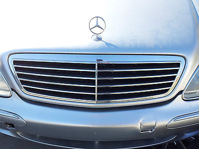 Mercedes benz w220 s430 s500 grill chrome 2000 2001 2002 for 2001 mercedes benz s430 parts