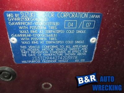 06 07 08 09 10 11 12 13 SUZUKI VITARA POWER BRAKE BOOSTER GRAND 9125133 540-50152 9125133