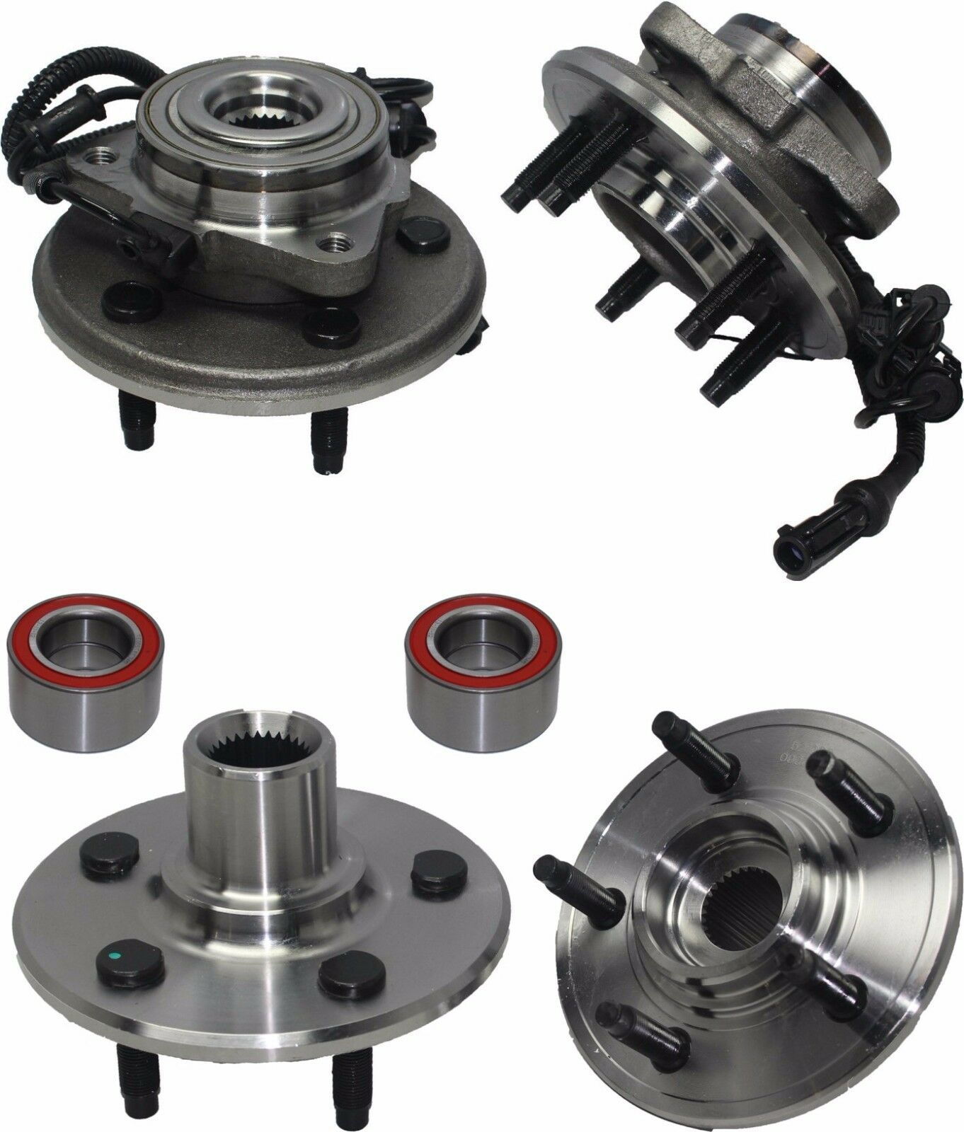 (4) New Front & Rear Wheel Hub and Bearing Assembly for LINCOLN AVIATOR (03-05)