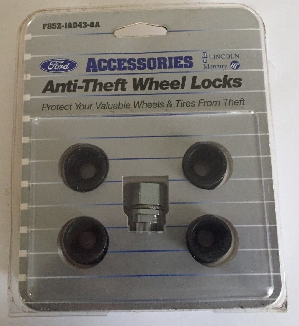 Ford anti-theft wheel locks with keys, model F85Z-1A043-A Does not apply