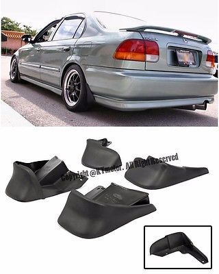 For 96-00 <em>Honda</em> <em>Civic</em> EK JDM Factory Front Rear 4 Pcs BK Mud Flaps Splash Guards