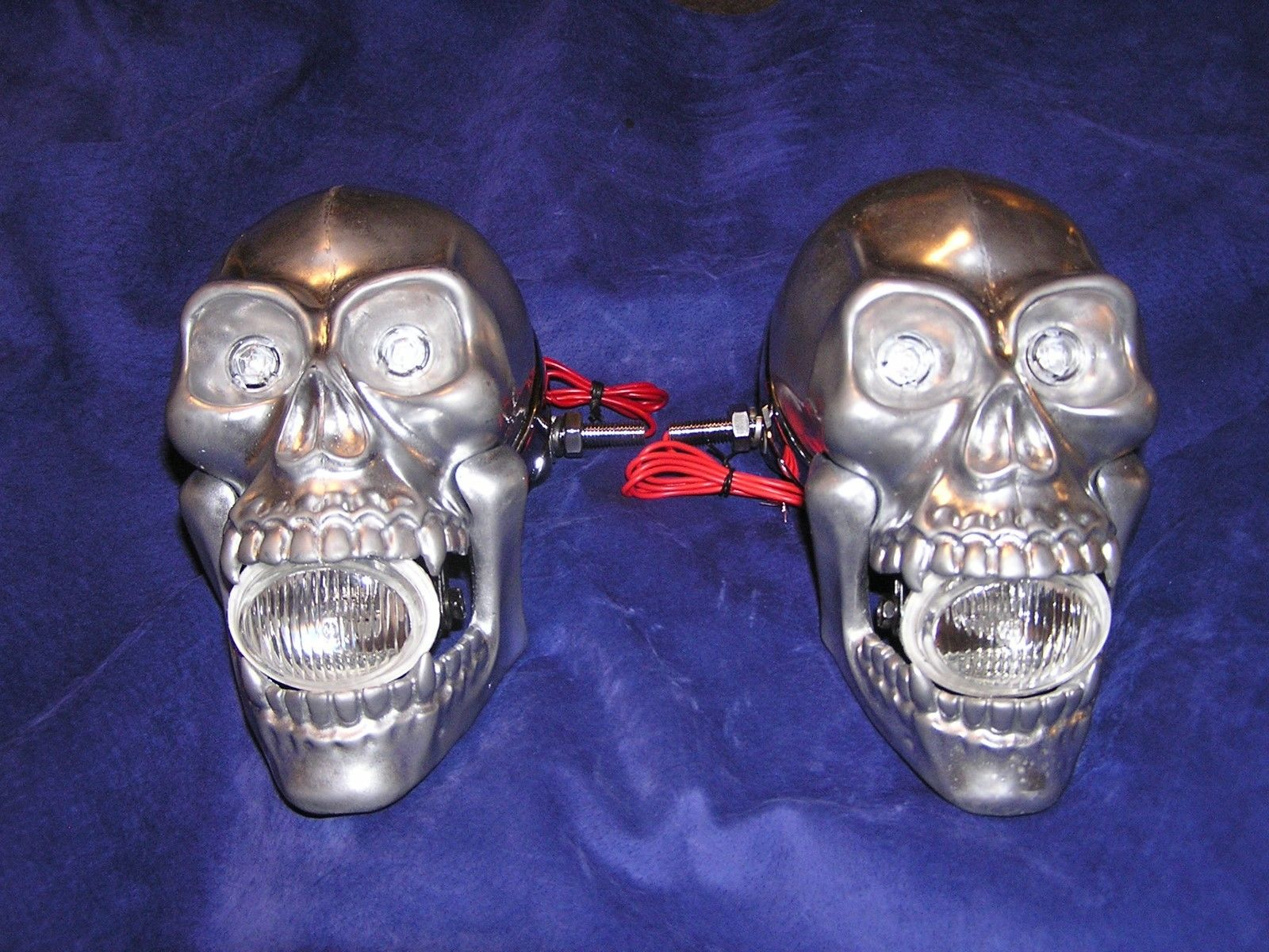 Set of Skull Head/Side/Fog Lights. Hand Made in the USA By RBD. Does not apply