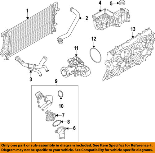 FORD OEM 11 14 F 150 Cooling System Expansion Tank