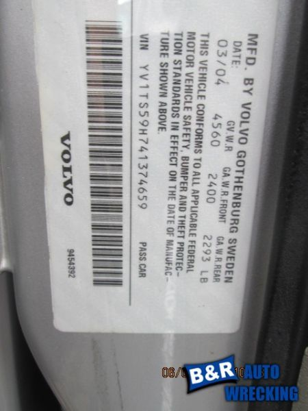 04 VOLVO S80 TEMPERATURE CONTROL EEC 2 ELECTRICAL PLUGS HEAD ONLY FAHRENHEIT 767 655-58795 7676952