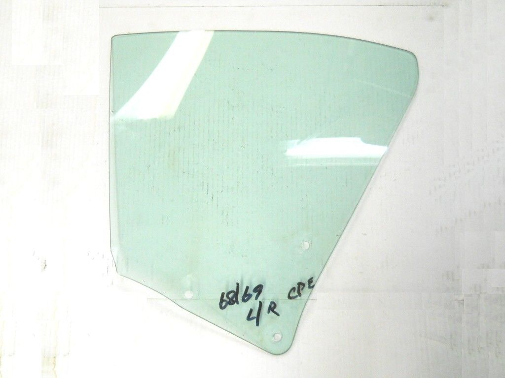 1968-69 CHEVELLE 2-DR HARDTOP USED TINTED LEFT REAR QUARTER GLASS
