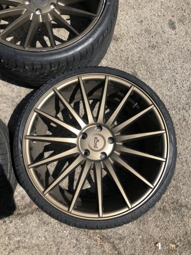 Bronze Niche Form 20 5x114.3 Staggered With Tires