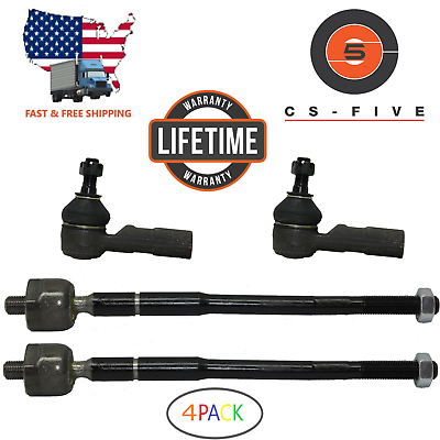 LIFETIME Inner & Outer Tie Rod End Set for Toyota Corolla 1998 99 2000 2001 2002