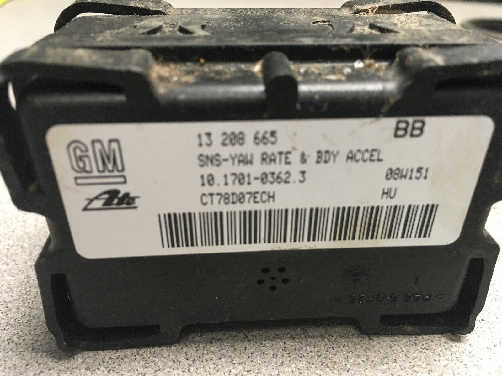 Saturn Astra YAW Rate Module P/N 13208665