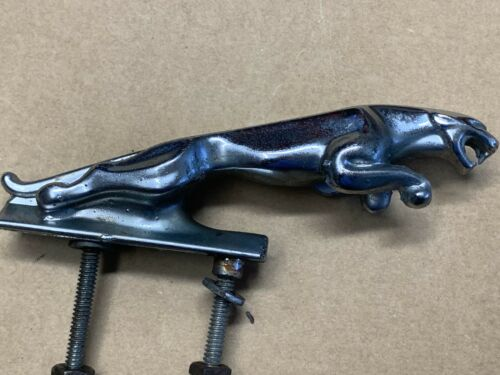 VINTAGE JAGUAR  5 INCH LEAPING CAT HOOD ORNAMENT WITH SERIAL # 7'24265'3 WB 7242653w8 7'24265'3 WB