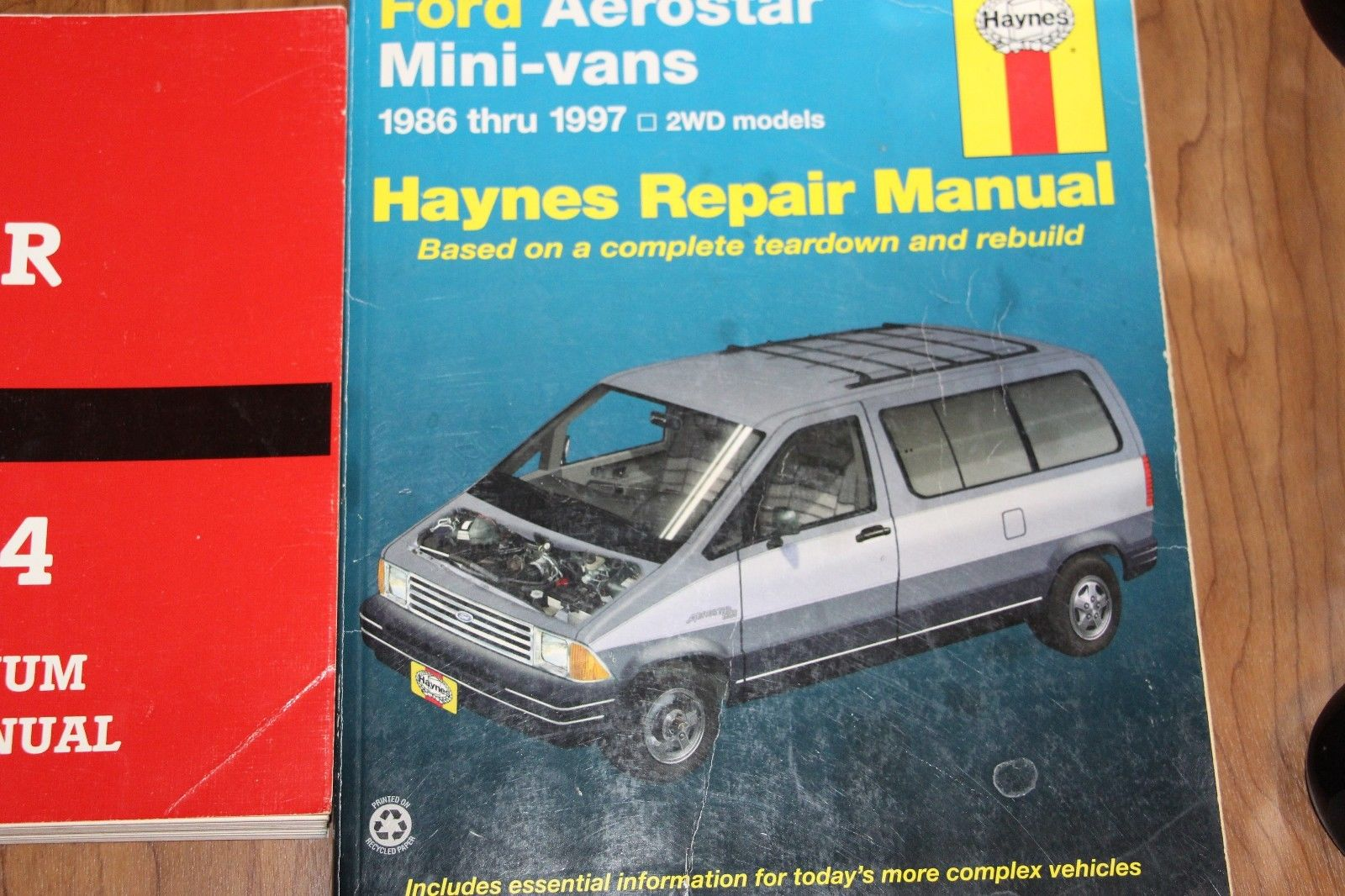 Haynes Repair Manual Ford Aerostar 1986 - 1997 + Ford Manual 1994 Electrical