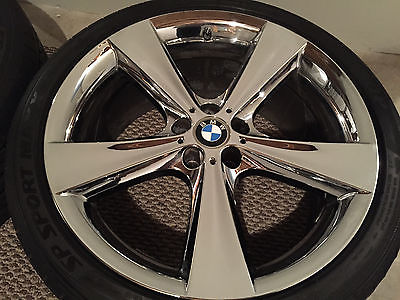 4 Genuine Staggered Bmw 21 Quot Chrome Wheels Tires Tpms