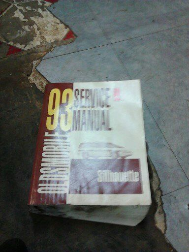 1993 Oldsmobile Silhouette Service Manual Good Condition