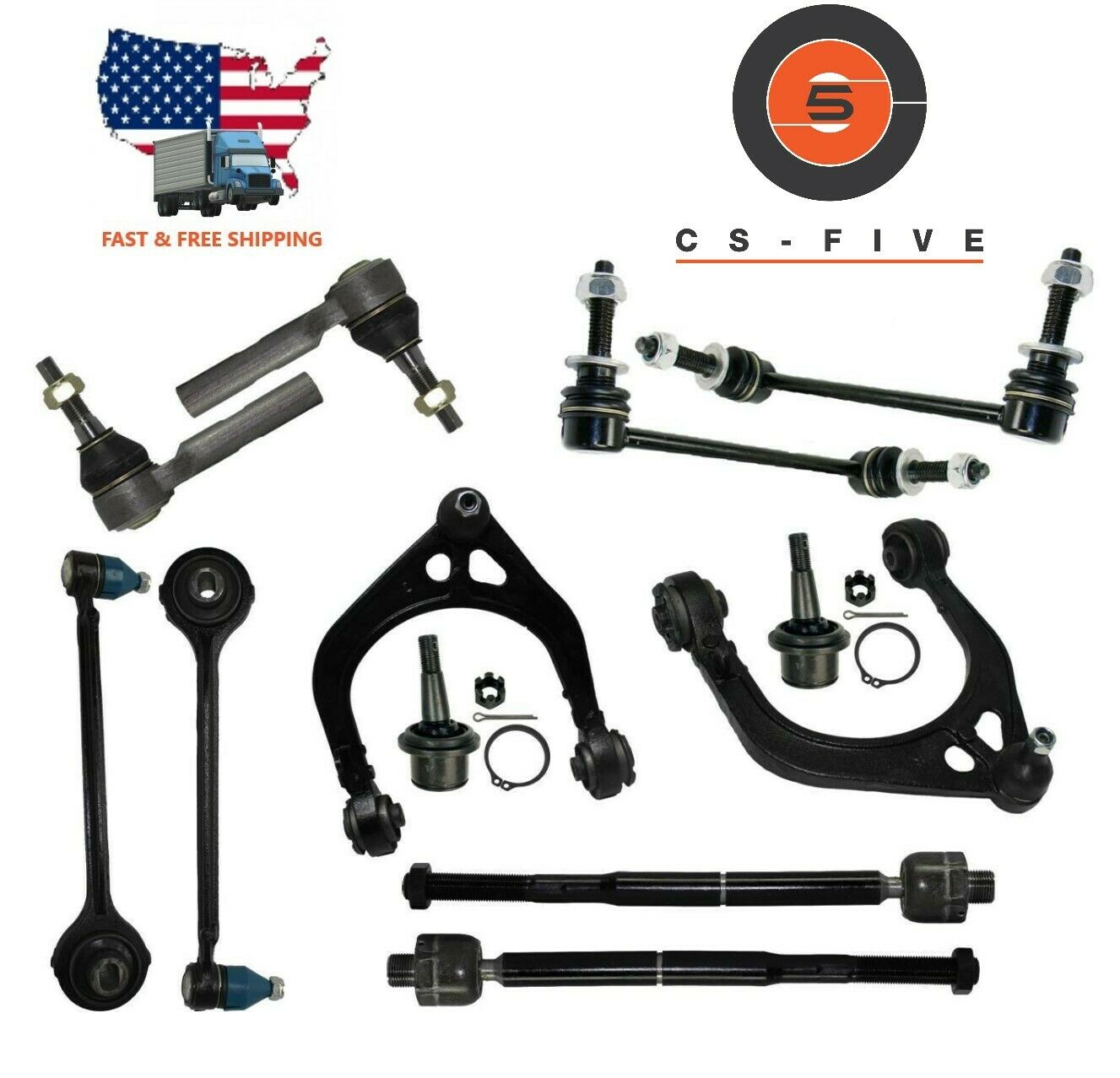 16 Pcs Complete Front End Steering Rebuild Package Kit CHRYSLER 300 2005 - 2010
