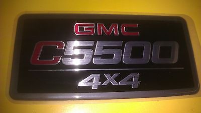 GENUINE GMC C5500 4X4 NAME BADGE EMBLEM STICKER C5500