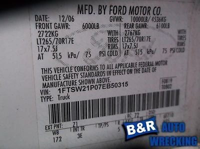 05 06 07 FORD F350 SUPER DUTY BRAKE MASTER CYL 9142587 541-01304 9142587