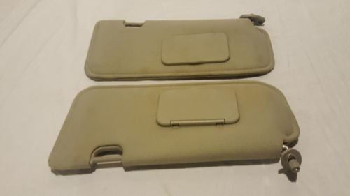 01-07 Ford Escape Mazda Tribute SUN VISOR SET GRAY sunvisor OEM 01-07 Ford Escape Mazda Tribute SUN VISOR SET GRAY