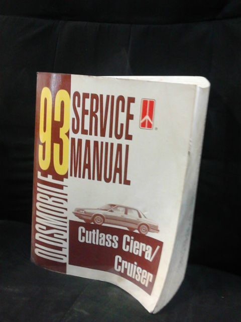 1993 Oldsmobile Cutlass Ciera / Cruiser Service Manual Good Condition