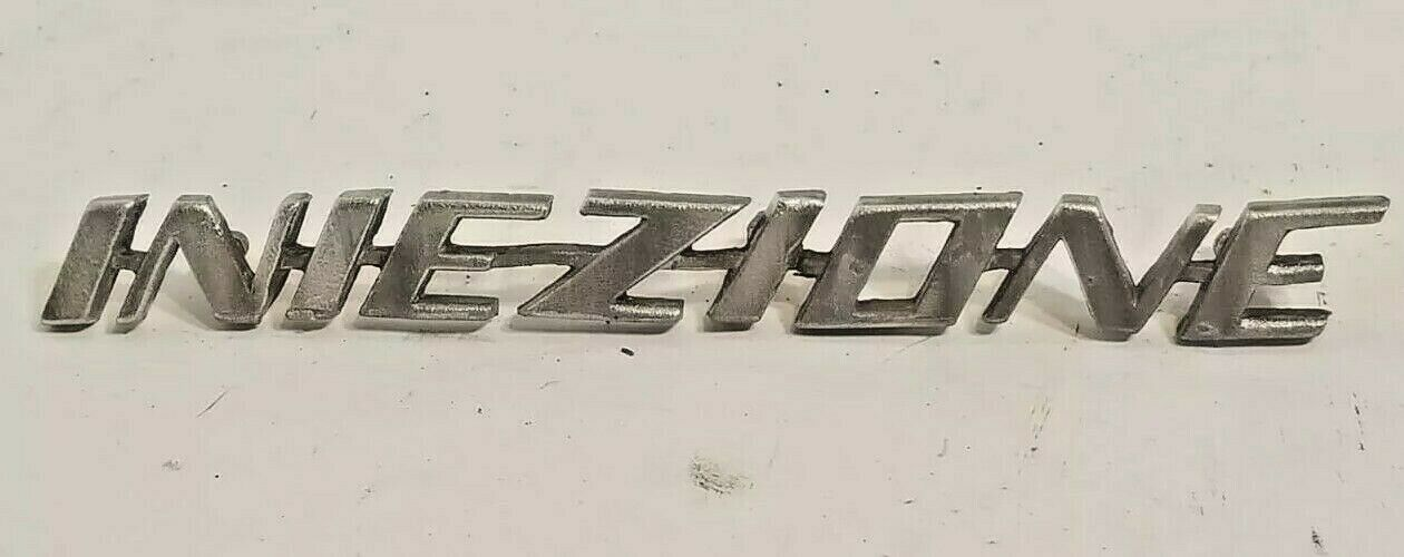 Alfa Romeo Spider vintage INIEZIONE EMBLEM Badge Logo BAD CHROME