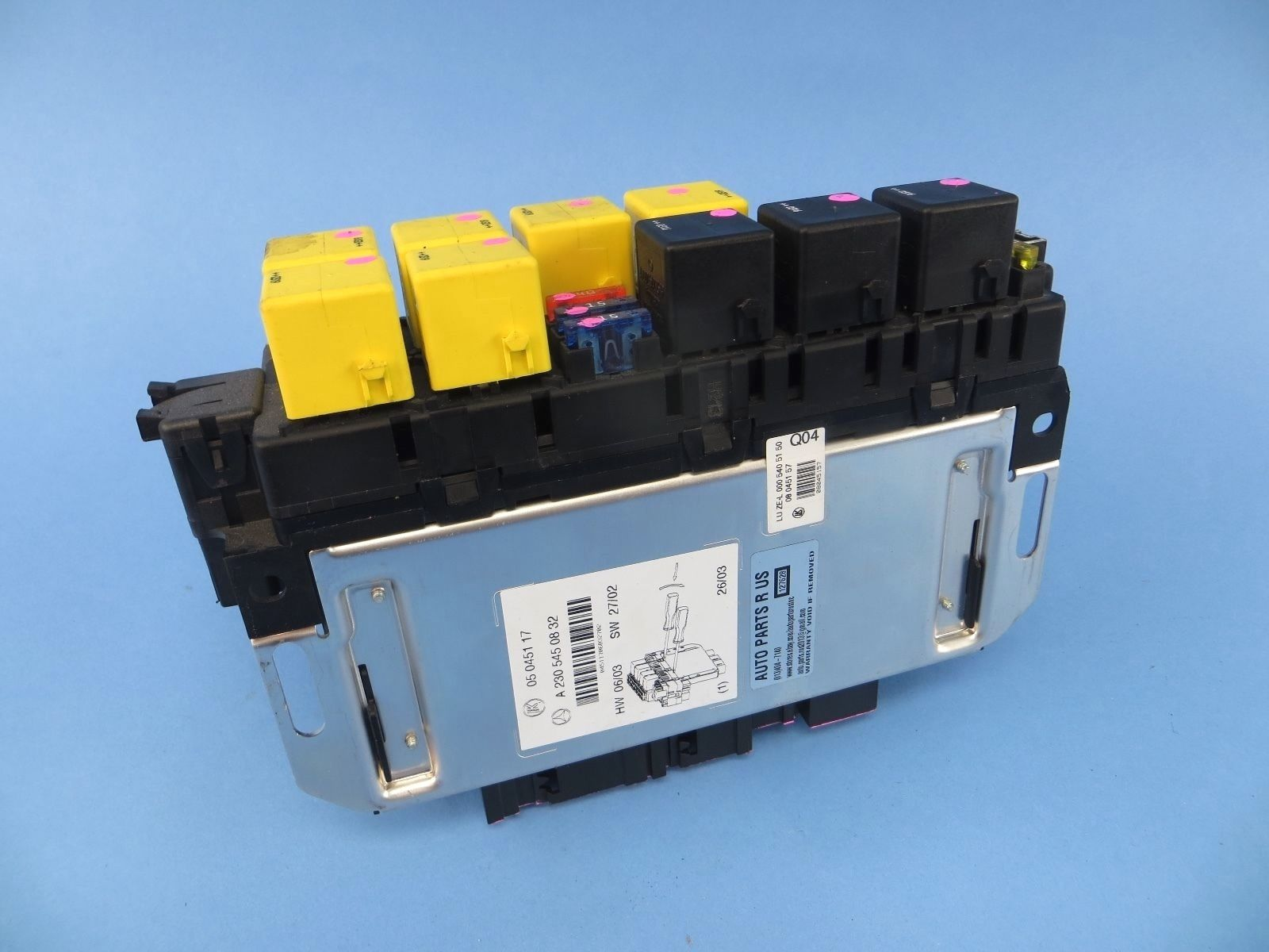 2003 Mercedes Benz Fuse Box Wiring Library 2006 R230 Sl500 Front Left Sam Module Oem Sl55