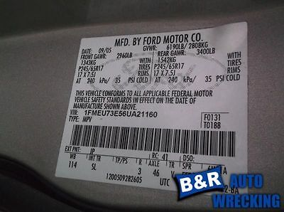 06 07 08 FORD EXPLORER ANTI-LOCK BRAKE PART ASSEMBLY ROLL STABILITY CONTROL 8803433
