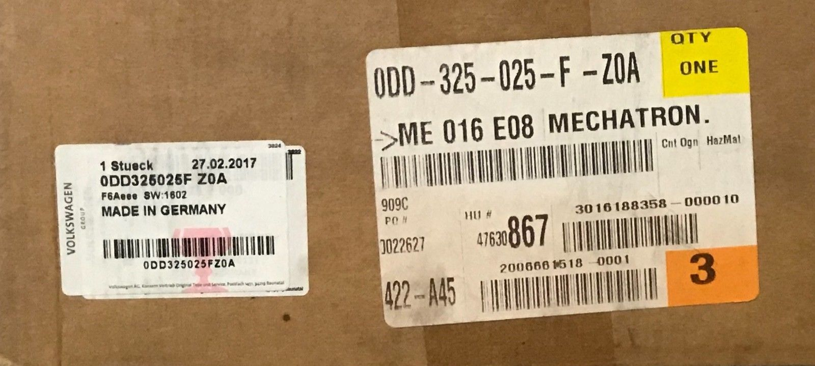 Genuine VW/Audi Mechatron Component #0DD325025FZ0A (New)(Warranty) Does not apply