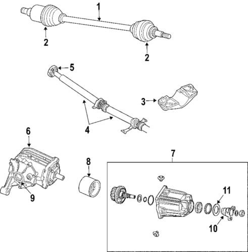 CHRYSLER OEM 04-06 Pacifica Rear Differential-Axle Seals