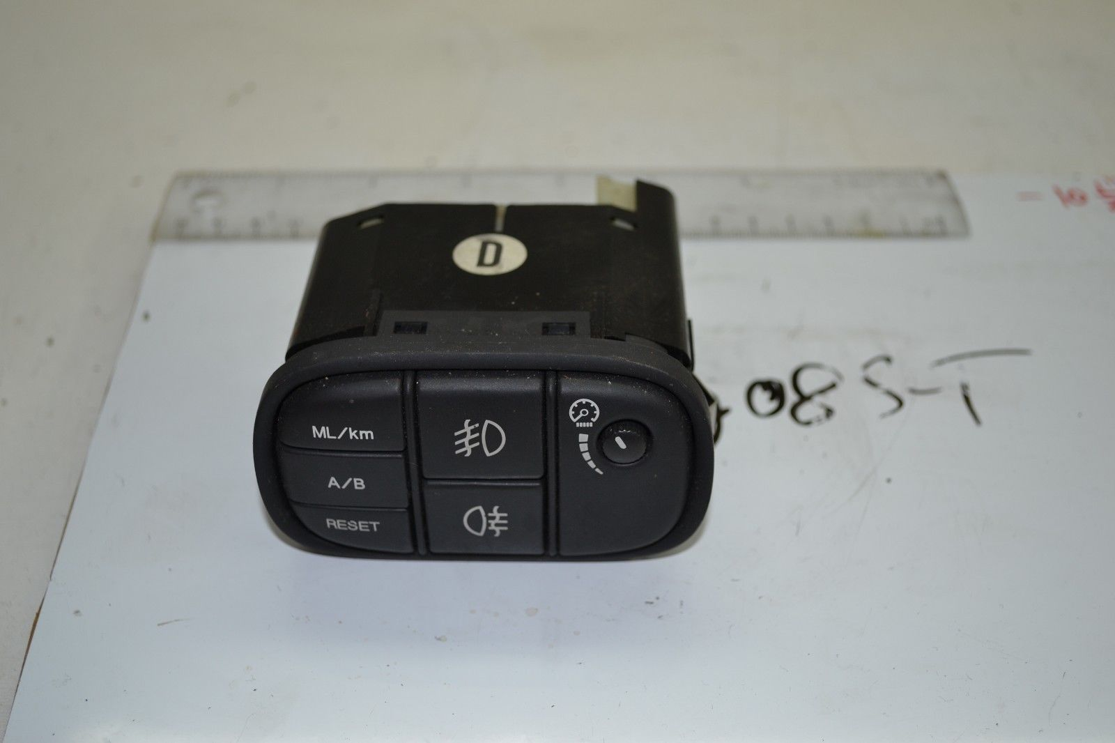 2003-2008 JAGUAR S TYPE REAR AND FRONT FOG LIGHT DIMMER TRIP RESET SWITCH OEM
