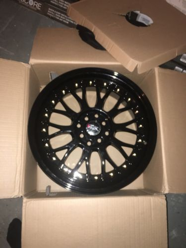 XXR 521 17X7 FULL GLOSS BLACK 4-100/4-114.3 RIMS BRAND NEW NEVER USED