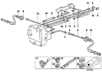 2000 tahoe brake line diagram 1997-1998 bmw oem front leftt brake line 528i 540i e39 ... #1