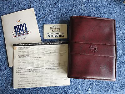 Original FACTORY 93 Deville Fleetwood Owner's Users Manual Brochure UNMARKED